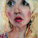 Portrait, 18x18 acrylic on panel.